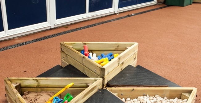 Kid's Sand Pit in Caerphilly