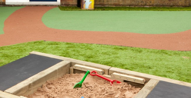 School Sandpit in Caerphilly