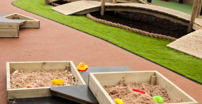 Sandbox with Stage in Caerphilly